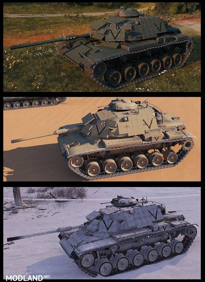 [replaceAnyTank] M60A1RISE from WT, animated 1.1 [1.4.1.2]